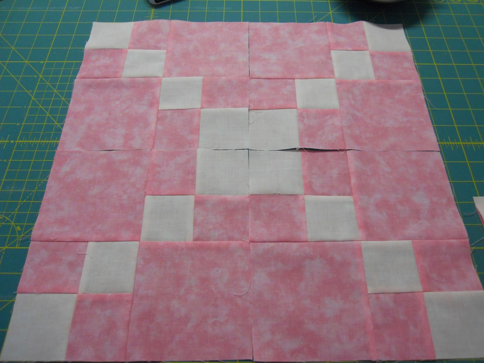 Quilting Affection Designs Double Four Patch Quilt And