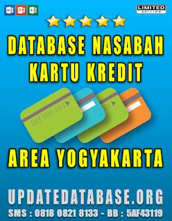 Jual Database Nasabah Kartu Kredit Yogyakarta