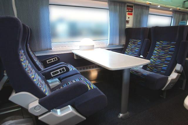 Primeira e segunda classe nos trens
