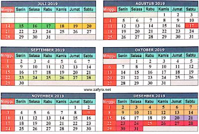 Unduh Download Kalender Pendidikan Th. 2019/ 2020 terbaru kurikulum 2013