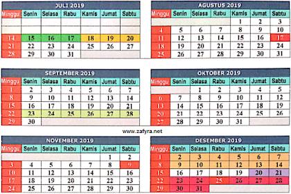 Download Kalender Pendidikan Th. 2019/ 2020