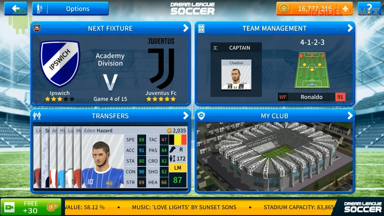Dream League Soccer 2019 Mod JUVENTUS Android Offline