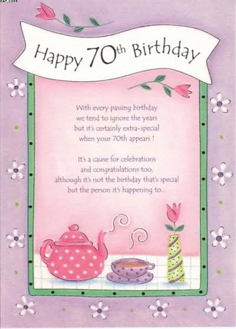Mom 90th Birthday Bouquet Of Wishes Card Happy 70th To
