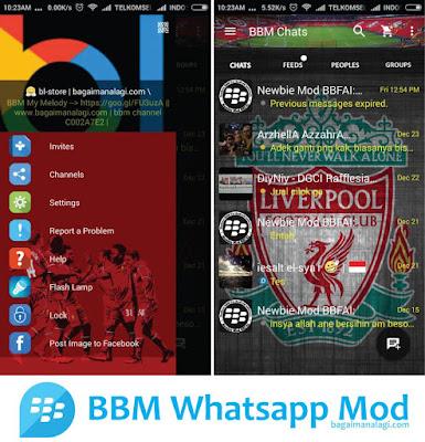 Download BBM MOD Liverpool Versi Terbaru v3.2.0.6 APK Clone Transparan