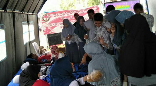 Aksi Sosial Donor darah FMP Kumpulkan 49 Kantong Darah