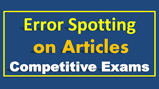 Error Spotting on Articles for Competitive Exams