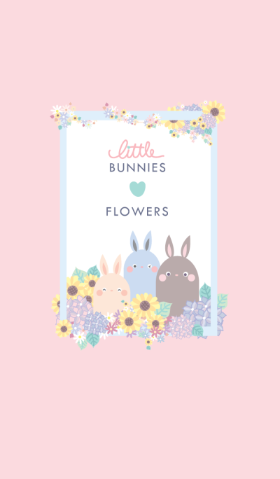 Little Bunnies Love Flowers