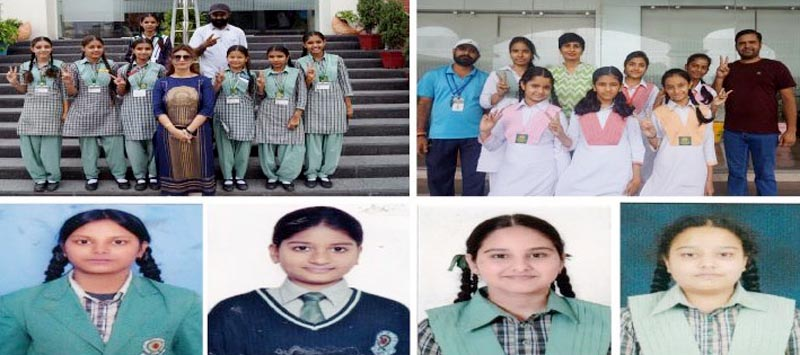 Successful students of Chain of Green Land Schools in Zonal Punjab Board Tables Tennis Girls Tournament