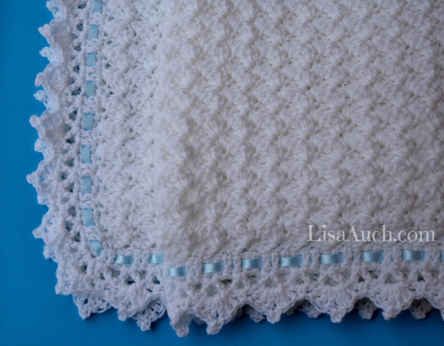 FREE Crochet Pattern Baby Blanket EASY - Little Clouds Crochet Blanket ...