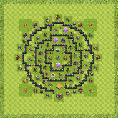 War Base Town Hall Level 8 By Rahmad X-friend (woyo TH 8 Layout)