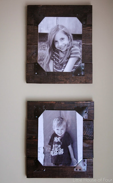 DIY Rustic Pallet Frames by Little House of Four