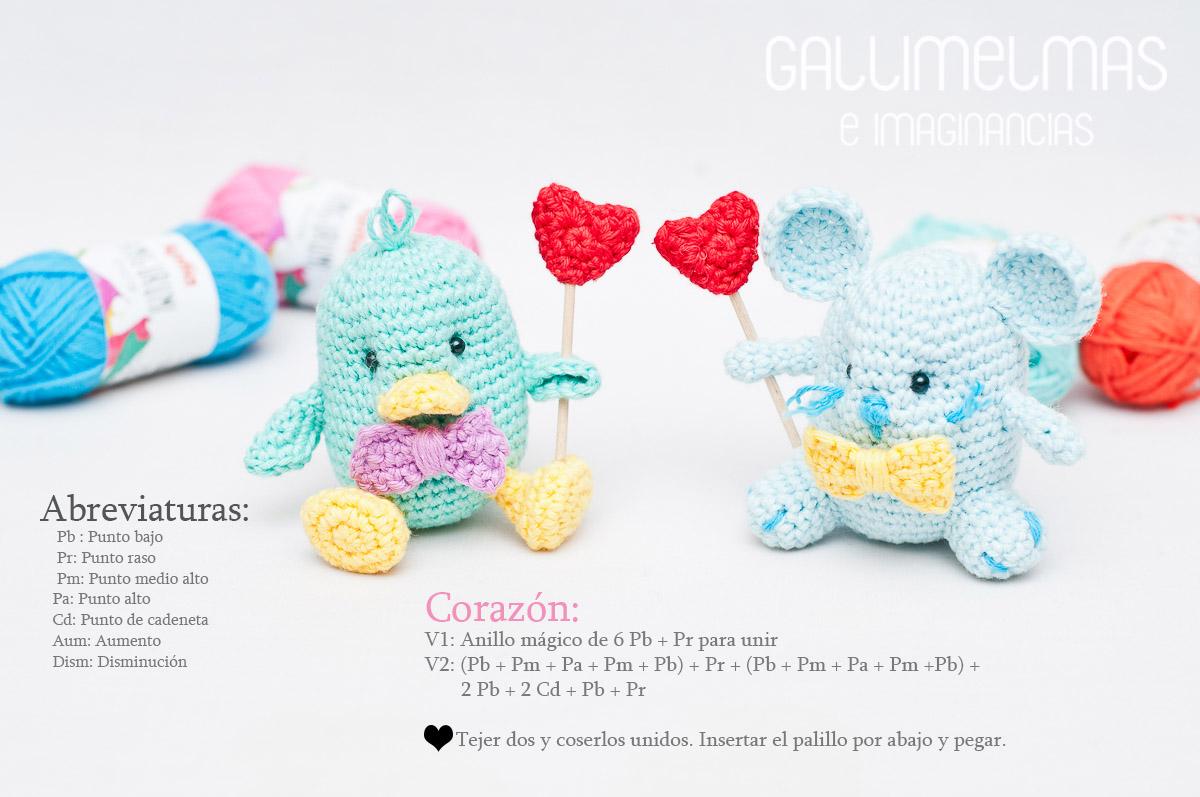 Free Patterns: Amor se escribe con A de Amigurumi | Gallimelmas e ...
