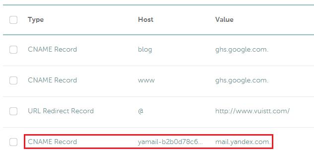 Tạo email theo tên miền riêng bằng Yandex