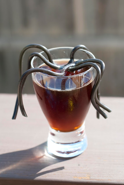 Halloween cocktail, shot, vodka, coffee liqueur