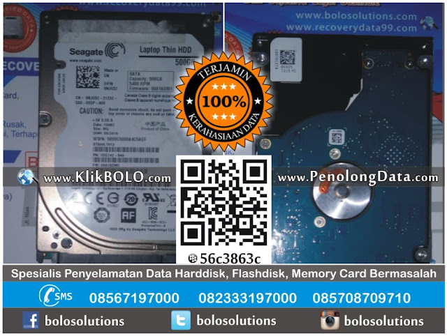 Hasil Recovery Data Harddisk Internal Seagate 500GB BPR Bank Jombang