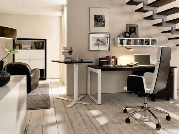 Modern Home Office Designs | Inspiration Home Decor on unusual home offices, sensational home offices, teal blue home offices, luxurious home offices, pretty home offices, interesting home offices, old style home offices,