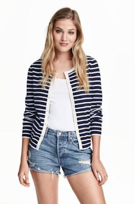 krótkie szorty jeansowe H&M sprane jeansy wiosna/lato 2016 blog modowy