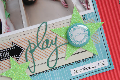 Paper Bakery June Scrapbook Kit Layout Sketch Challenge #7 by Juliana Michaels