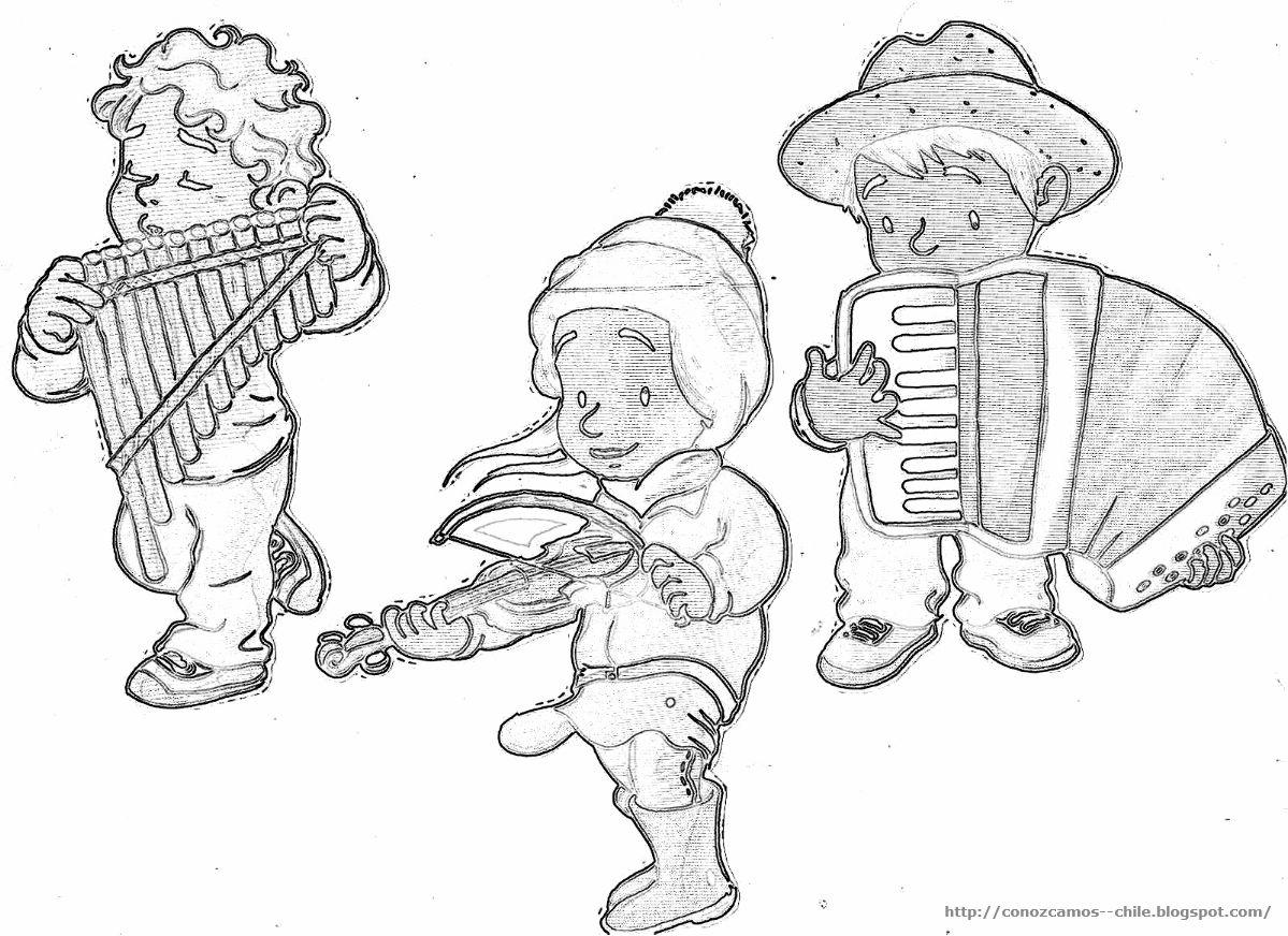 Dibujo De Chilena Para Colorear: Huaso Chileno Para Colorear Fiestas Patrias