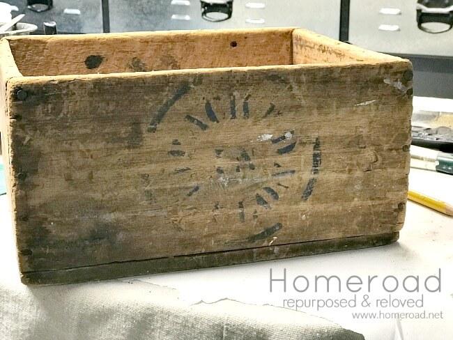 Rustic Antique Crate