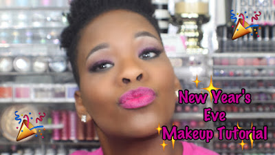 New Year's Eve Pink Glitter Makeup Tutorial
