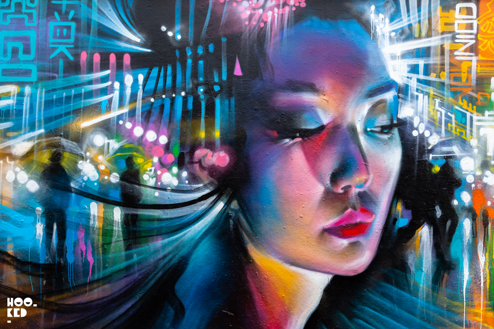Shoreditch Street Art Mural by Artist Dan Kitchener aka DANK