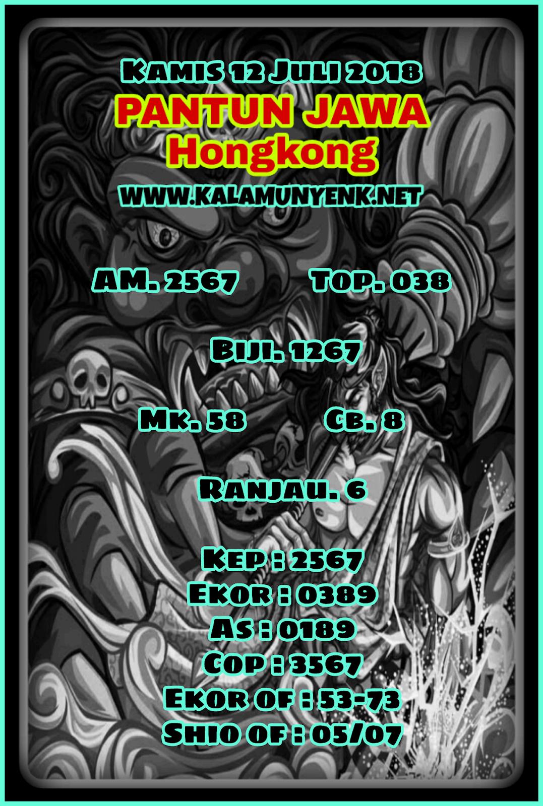 Kode Syair Hongkong 12-07-2018