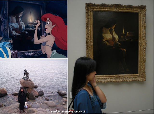 gaslighthouse.blogspot.com The Little Mermaid Disney Ariel Hans Christian Andersen The Magdalen with the Smoking Flame Louvre Paris