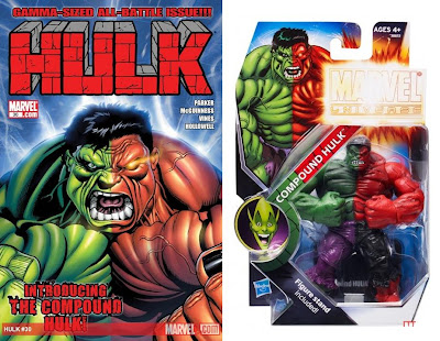Hulk Issue #30 Cover Artwork by Ed McGuinness & New York Comic-Con 2011 Exclusive Compound Hulk Marvel Universe Action Figure in Packaging