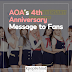 AOA's 4th Anniversary Message to Fans