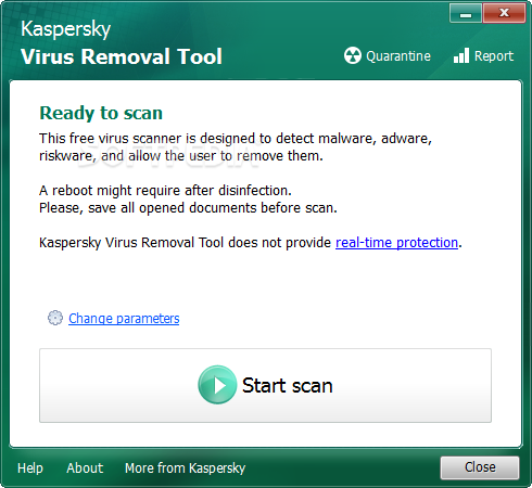 تحميل برنامج ازالة الفيروسات للكمبيوتر Kaspersky Virus Removal Tool