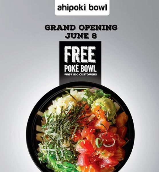 AHI POKI BOWL WILL GIVE OUT 500 FREE POKE BOWLS JUNE 8 - HOLLYWOOD