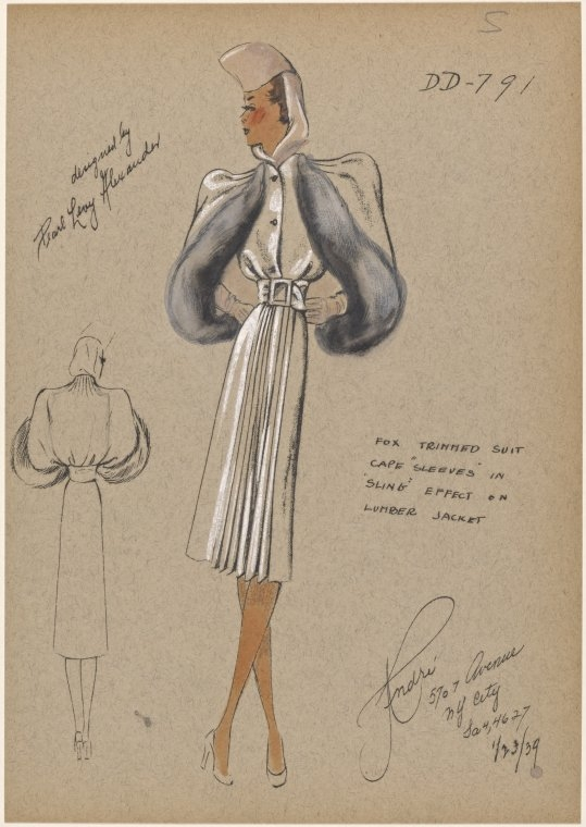 07-Fox-Trimmed-Suit-New-York-Public-Library-André-Studios-Fashion-Vintage-Illustrations-and-Drawings-from-the-1930s-www-designstack-co