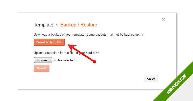 Cara backup template di blogspot