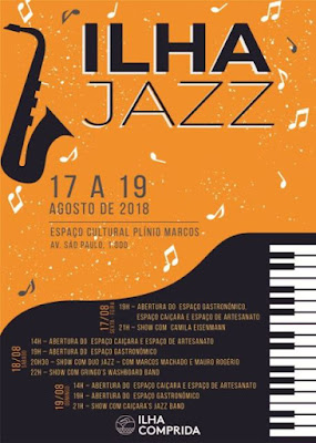 Shows, gastronomia e artesanato no Ilha Jazz