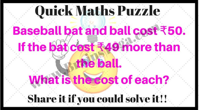 Quick Maths puzzle