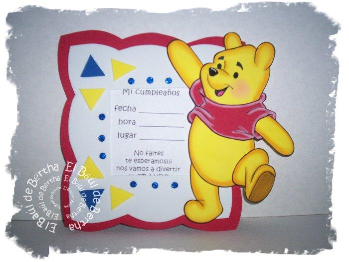 KIT Fiesta Infantil con Winnie Pooh Portaretrato%2BInvitacion%2BWinnie%2BPooh