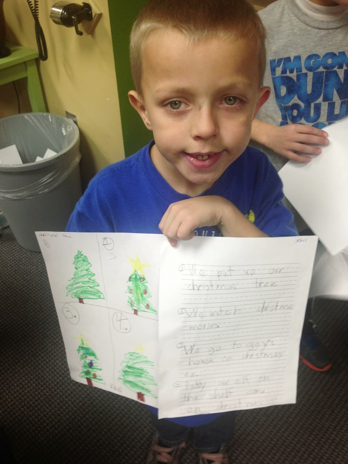 The Library Voice Our First Graders Share Their Holiday