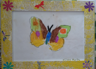 Wildlife art workshops for children in London Surrey Kent and Sussex. Butterfly Art.