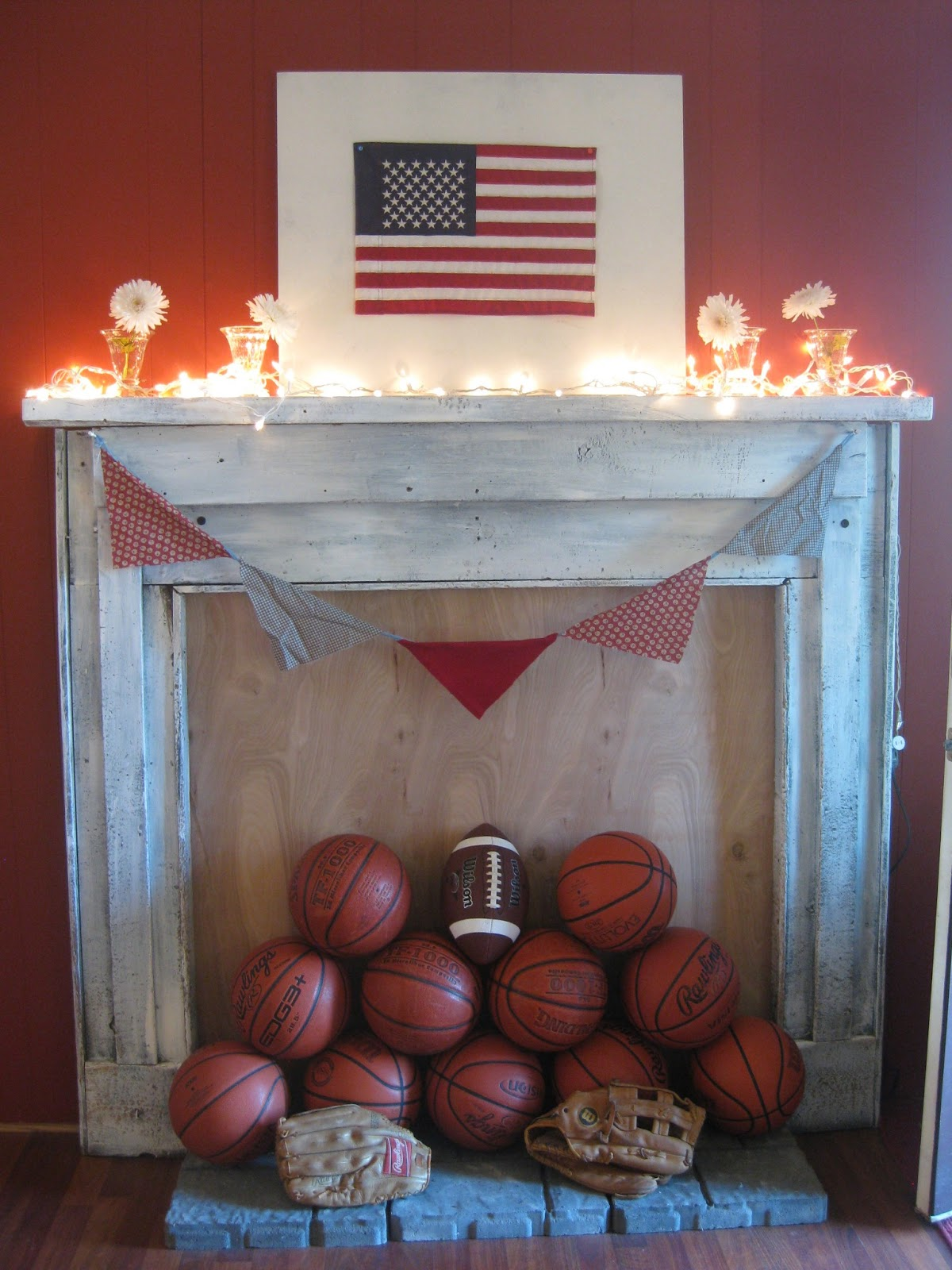 Downtime Upcycle Vintage Sports Baby Shower And