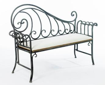 kursi besi temap, kursi taman panjang, kursi antik, kursi mewah