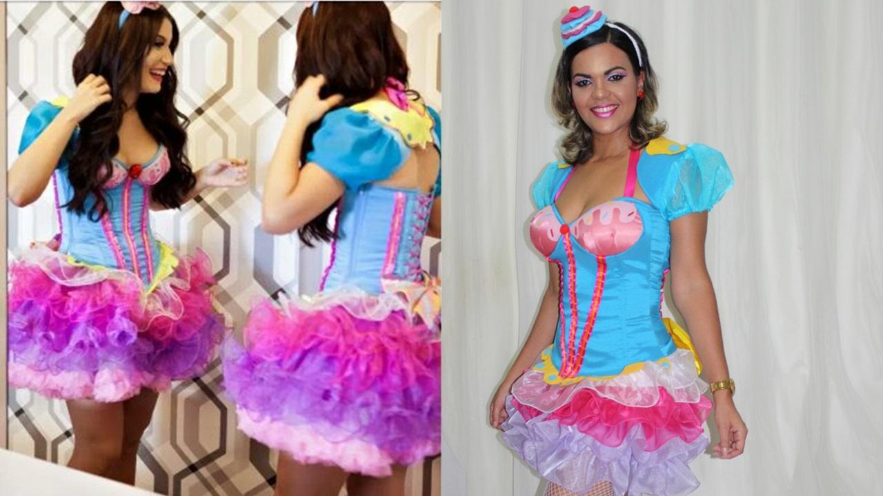 ecbc4097f Ficando Linda   Tentei imitar a Boca Rosa!  Fantasia cupcaker