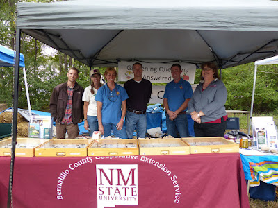 Photo of NMSU employees at the Local Food and Field Festival in Albuquerque, NM in 2014