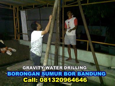 borongan jasa sumur bor bandung gravity water drilling