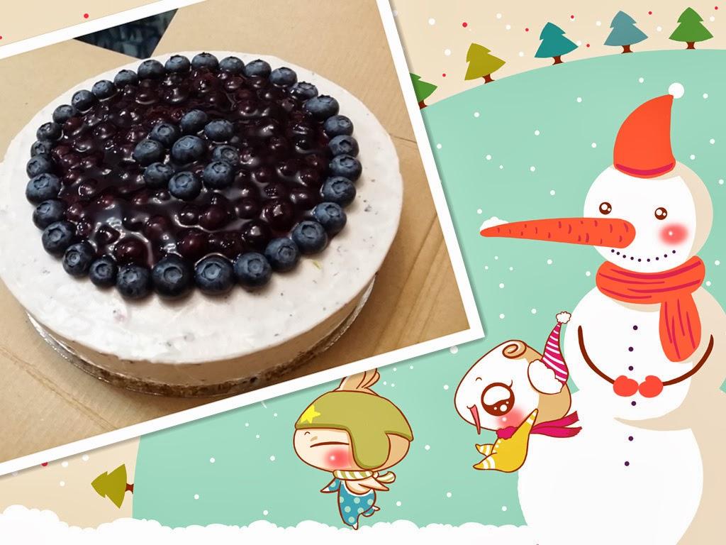 concon 煮意 blog: 藍莓芝士凍餅 - 附食譜
