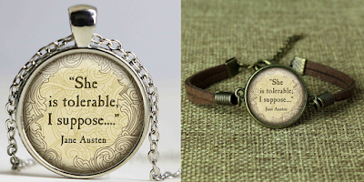onde comprar Bijuterias Quotes de Jane Austen