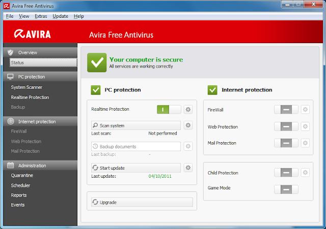 Avira Free Antivirus 15.0.27.34 Terbaru