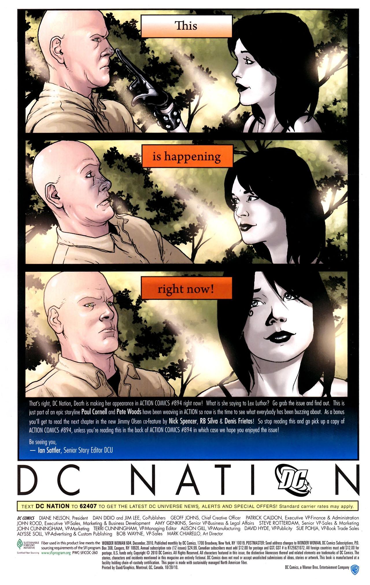 Read online Wonder Woman (2006) comic -  Issue #604 - 24