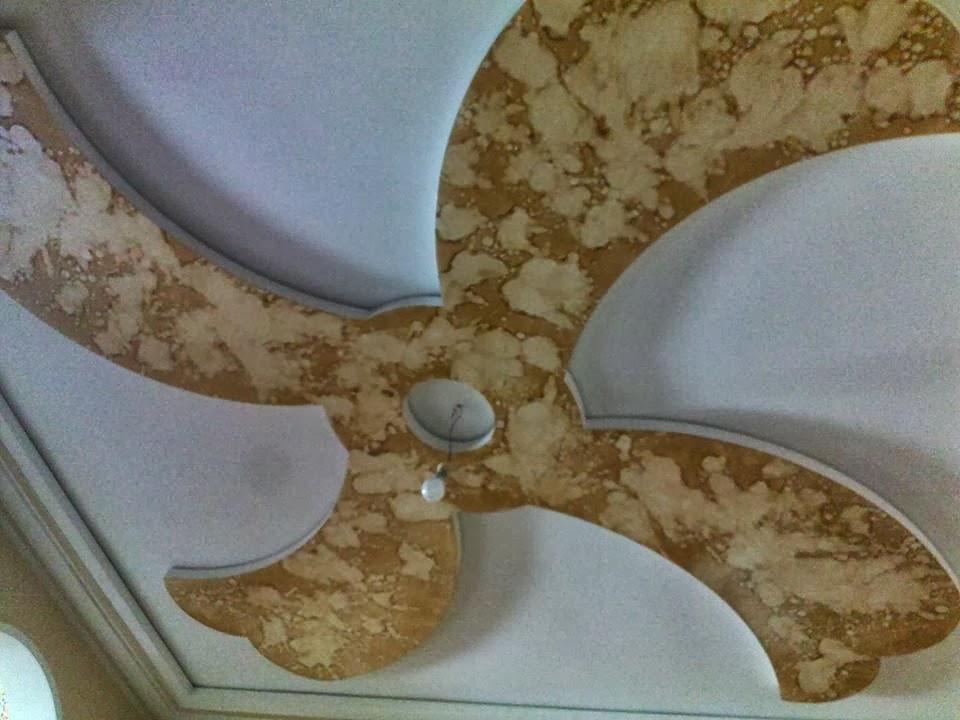Fleur plâtre fan - decoration platre plafond
