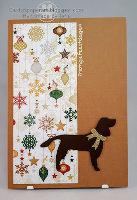 Christmas card with dog silhouette